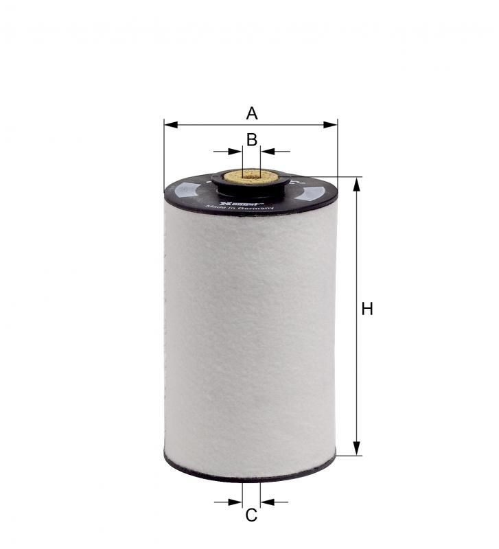 Filtro Diesel Hengst E10KFR4 D10 - 1 litro