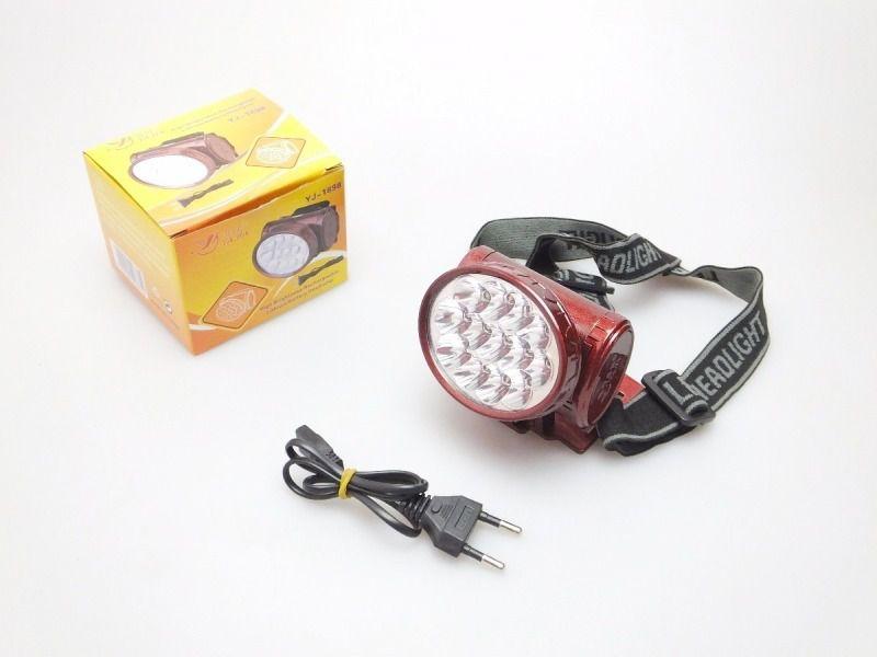 Lanterna de Cabeça para Pesca - 13 LEDS Recarregável