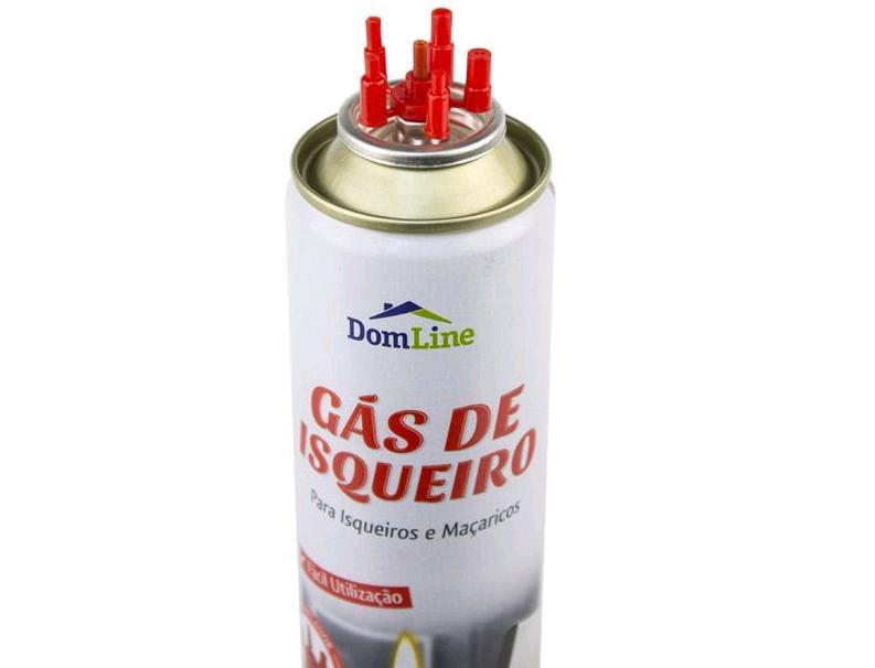 Refil de Gás para Isqueiros e Maçaricos com adaptadores - Kit com 2 unidades