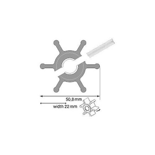 Rotor Johnson para Gerador MASE IS 7.1/ IS 10 / Panda (09-810B-1)