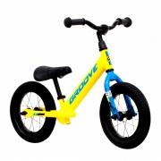 Bicicleta Infantil Groove Balance Amarelo com Azul Aro 12