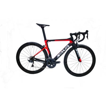 Bicicleta Speed Sava R8000 Tam 47 Preta/Vermelho