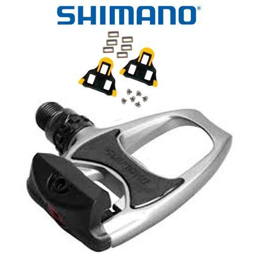 Pedal Shimano R540 Prata + Taco Sh11 - Original -importado