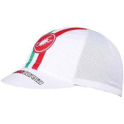 - Boné Castelli Boné Castelli - Rosso Corsa - Branco Original