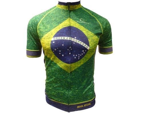 - Camisa Ciclismo Mauro Ribeiro Brasil Especial Tam: M/gg
