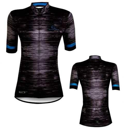 - Camisa Ciclismo Feminina Luck Mauro Ribeiro Azul/preta