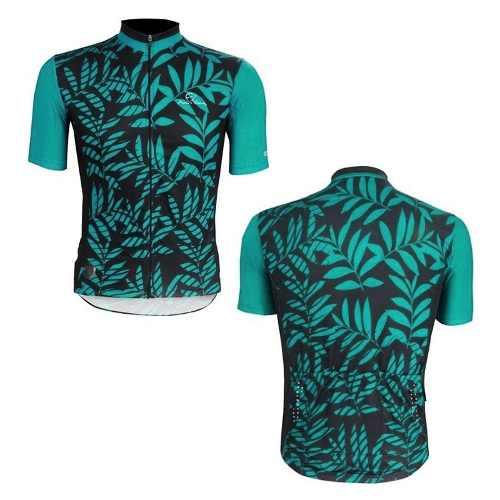 - Camisa Mauro Ribeiro Tropical Preta E Verde