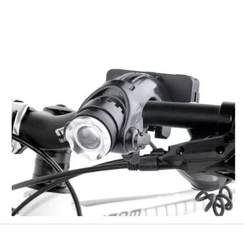 - Lanterna Bike Action Dupla Função Cabeça Ou Guidão Led T6