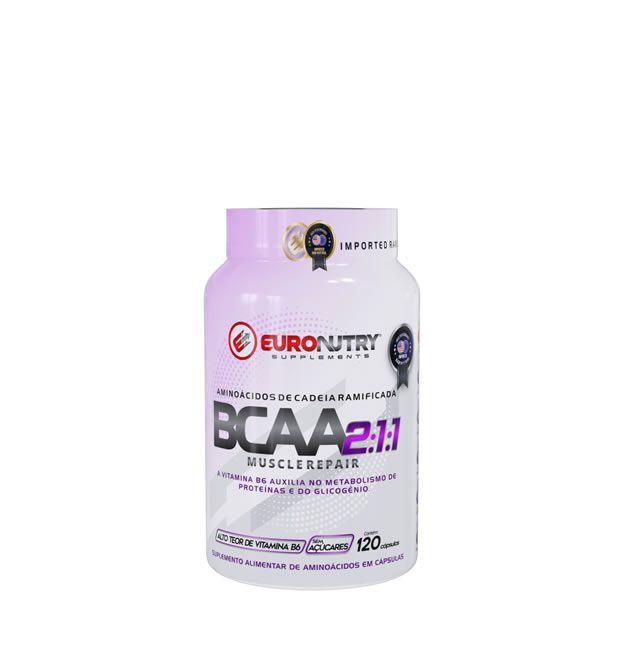BCAA Euronutry 2:1:1 120 Cápsulas