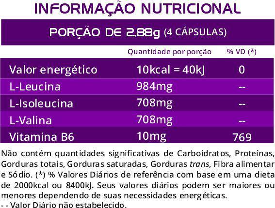BCAA Euronutry 2:1:1 - 120 Cápsulas