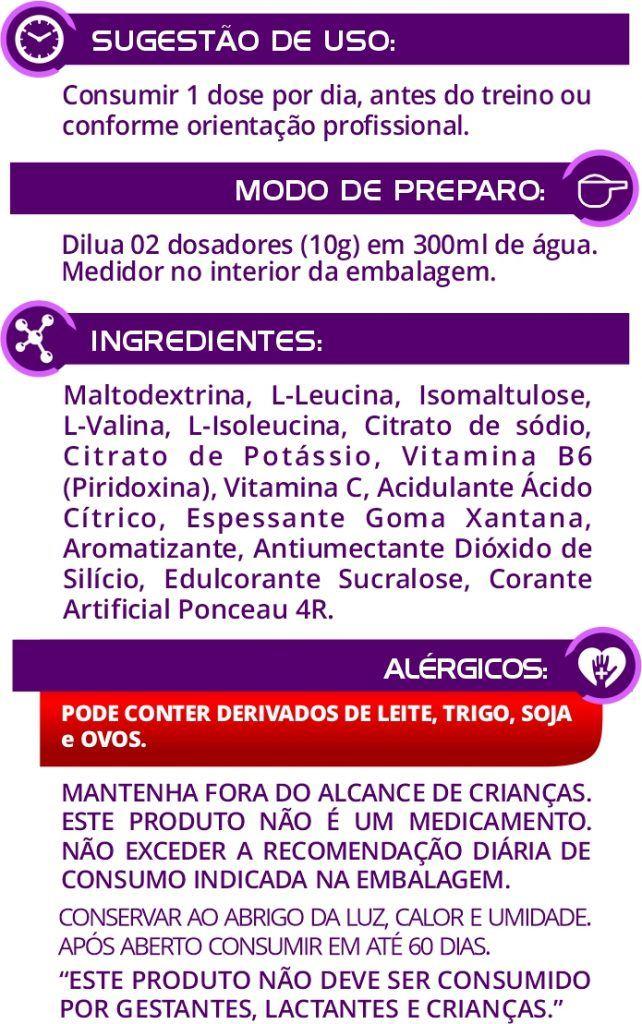 BCAA Euronutry 6:1:1 -  300g - Sabor Frutas Vermelhas