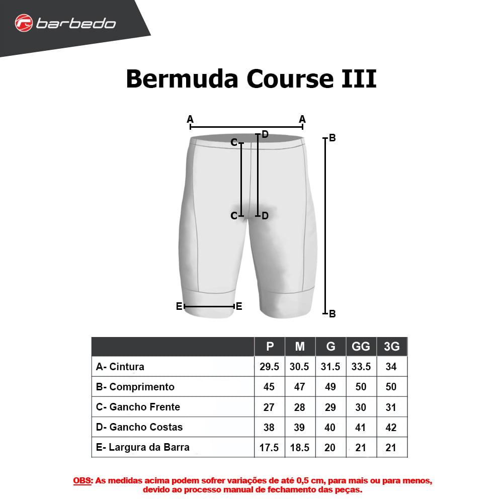 Bermuda Ciclismo Barbedo Course III Masculina