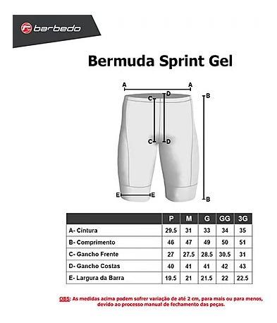 Bermuda De Ciclismo Barbedo Sprint Forro Gel