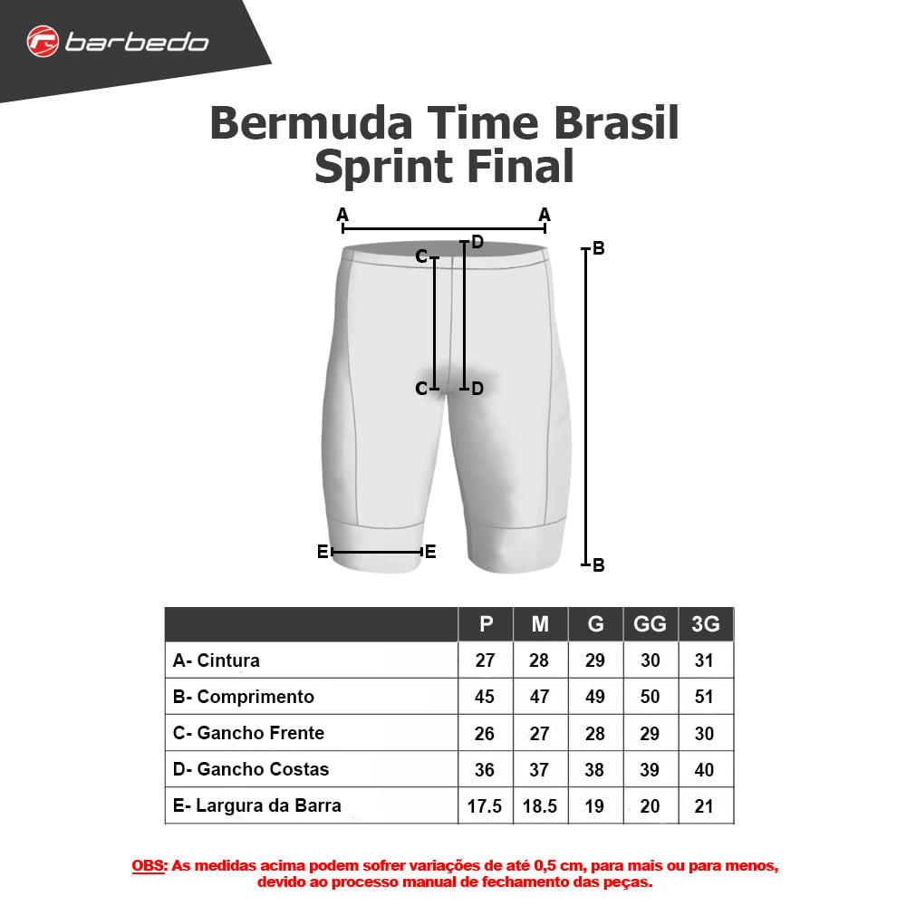 Bermuda Short Ciclismo Barbedo Sprint Masculino