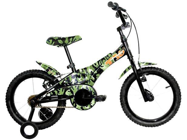 Bicicleta Groove Aro 16 Camuflada Verde Tito
