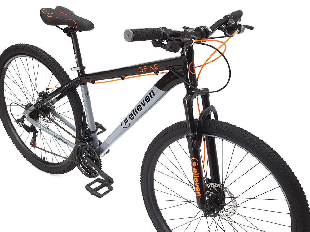 Bicicleta Aro 29 MTB TAM 17 Preto/Cinza Gear+ Brinde