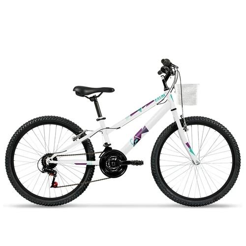 Bicicleta Caloi Ceci Infantil Aro 24 Branca
