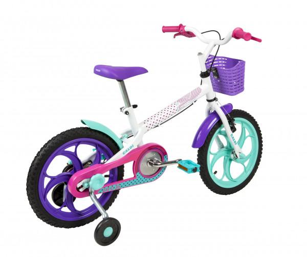 Bicicleta Caloi Infantil Ceci Aro 16 Branca com Azul