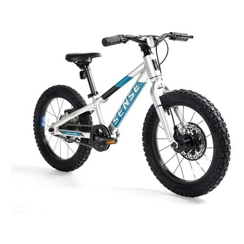 Bicicleta Grom Impact Aro 16 cinza/azul ON