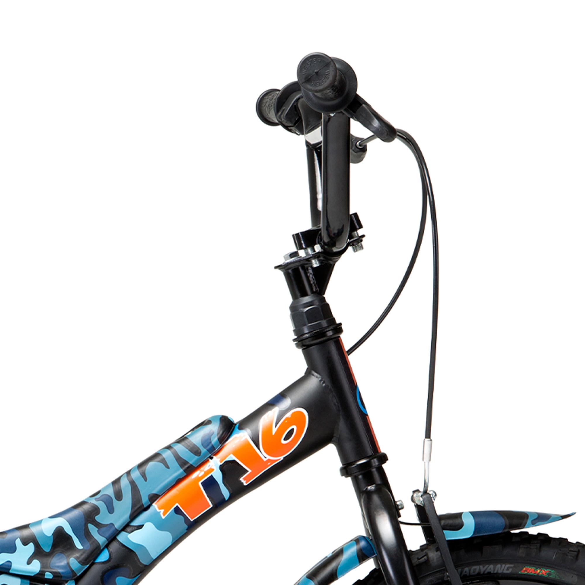 Bicicleta Groove Aro 16 Camuflada Azul Tito
