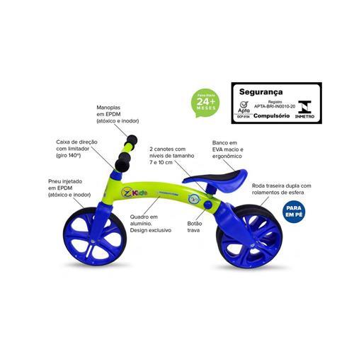 Bicicleta Infantil De Equilíbrio Aro 12  Mazzaron ROS/BRA