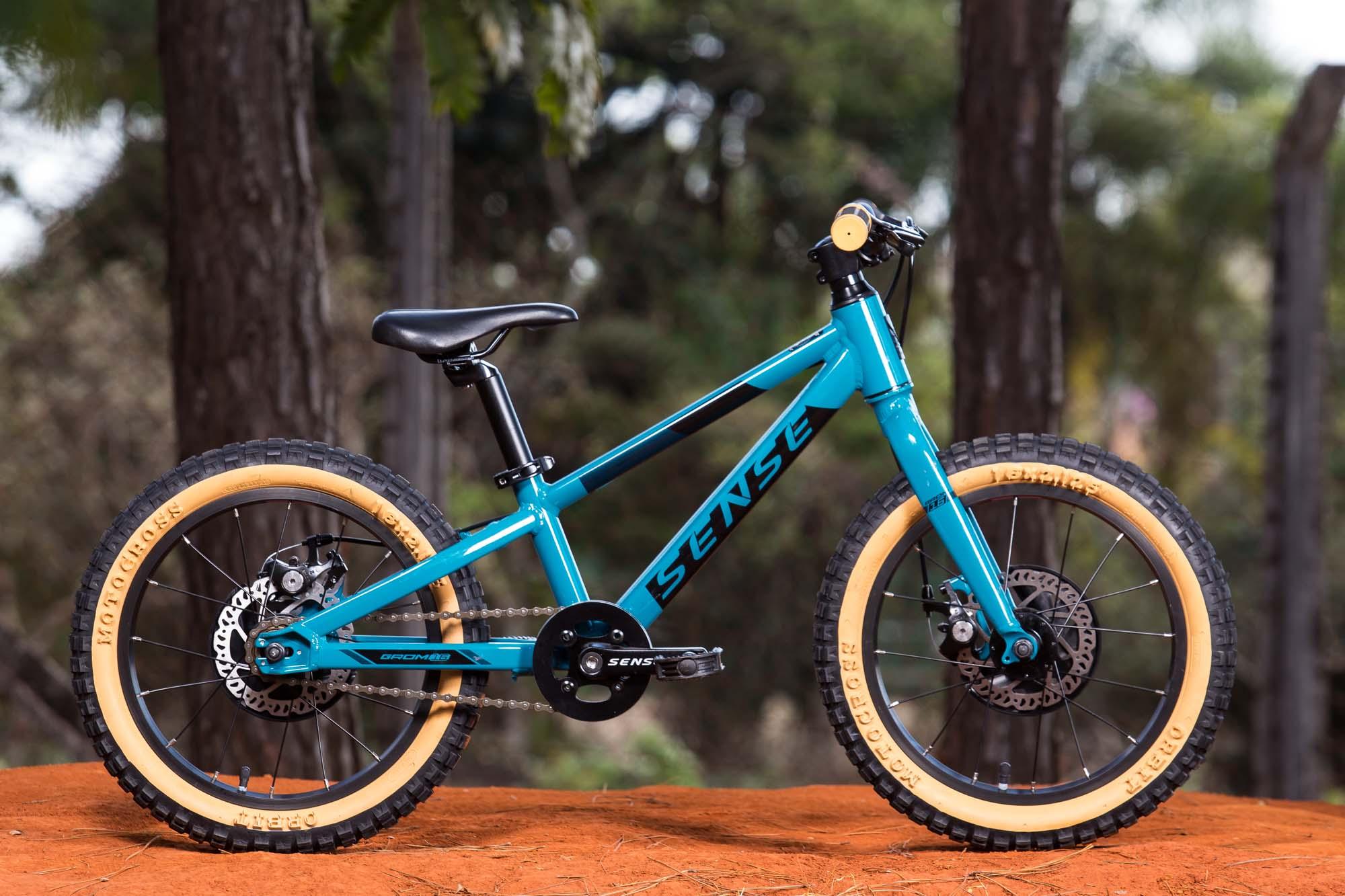 Bicicleta Sense Alum Grom Aro 16 Aqua/Preto