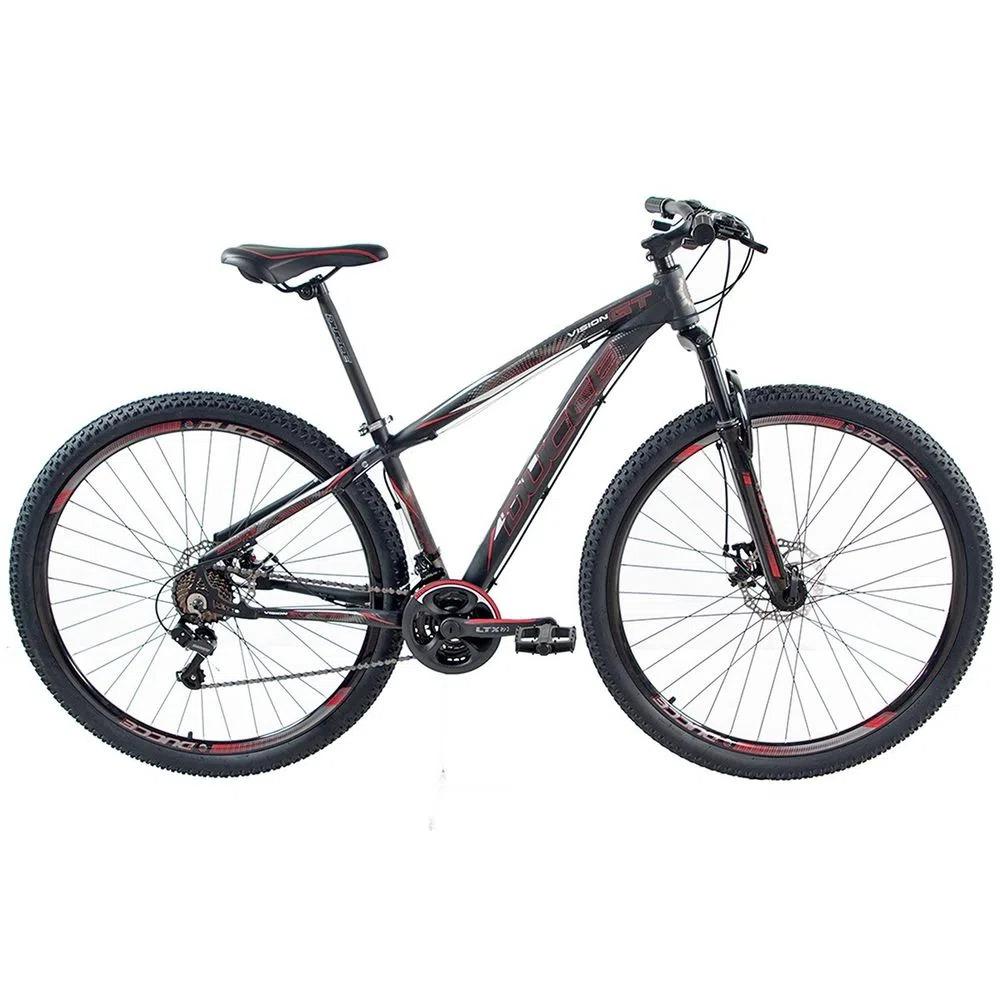 Bicicleta Ducce VIsion  GT-X2 Aro 29 TAM 17 Preto/Vermelho