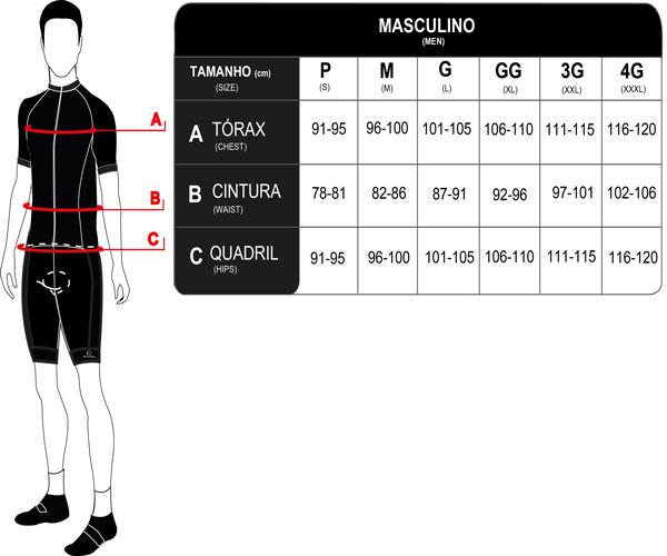 Bretelle Ciclismo Maculino Mauro Ribeiro High Performance