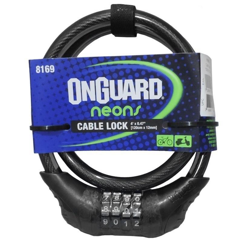 Cadeado Onguard 8169 Neons Cabo Lock Codificado C. Senha Pto