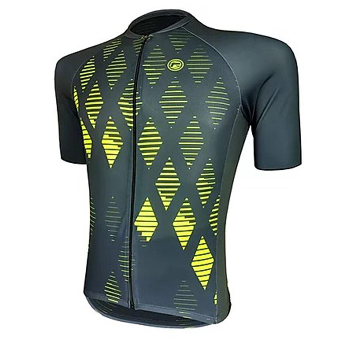 Camisa Barbedo Jatiuca Preto Verde Neon Bike