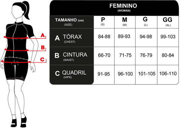 Camisa Ciclismo Mauro Ribeiro Feminina Real Preto