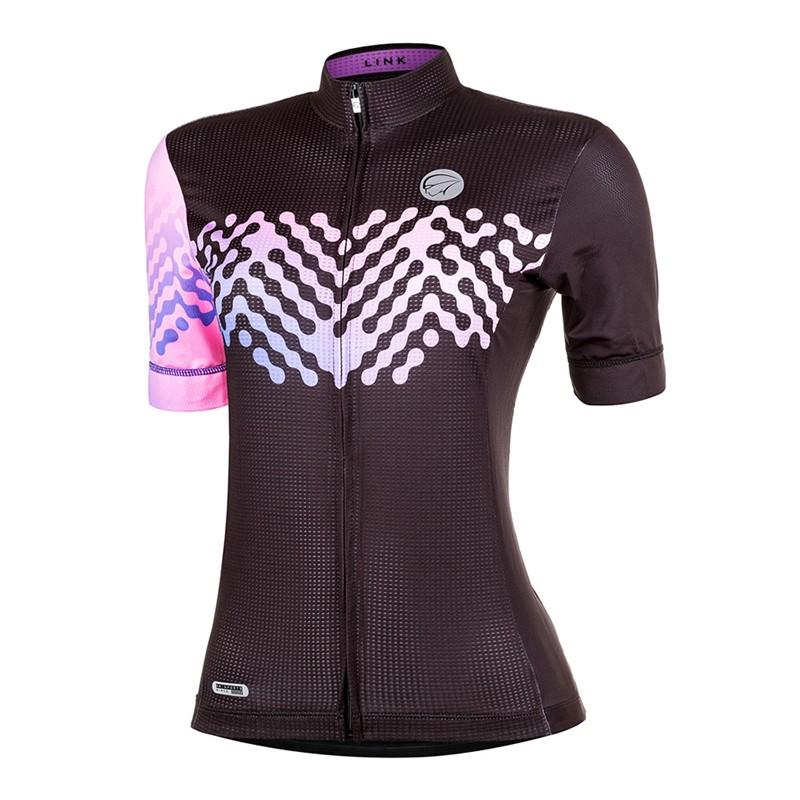 Camisa Ciclismo Mauro Ribeiro Link Preto Feminina