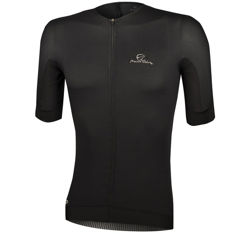 Camisa Ciclismo Mauro Ribeiro Masculina Tecno Black Preta