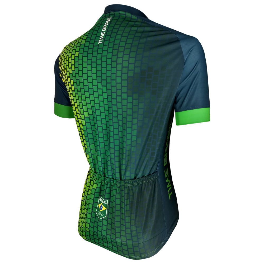 Camisa de Ciclismo Barbedo Time Brasil Podium Verde