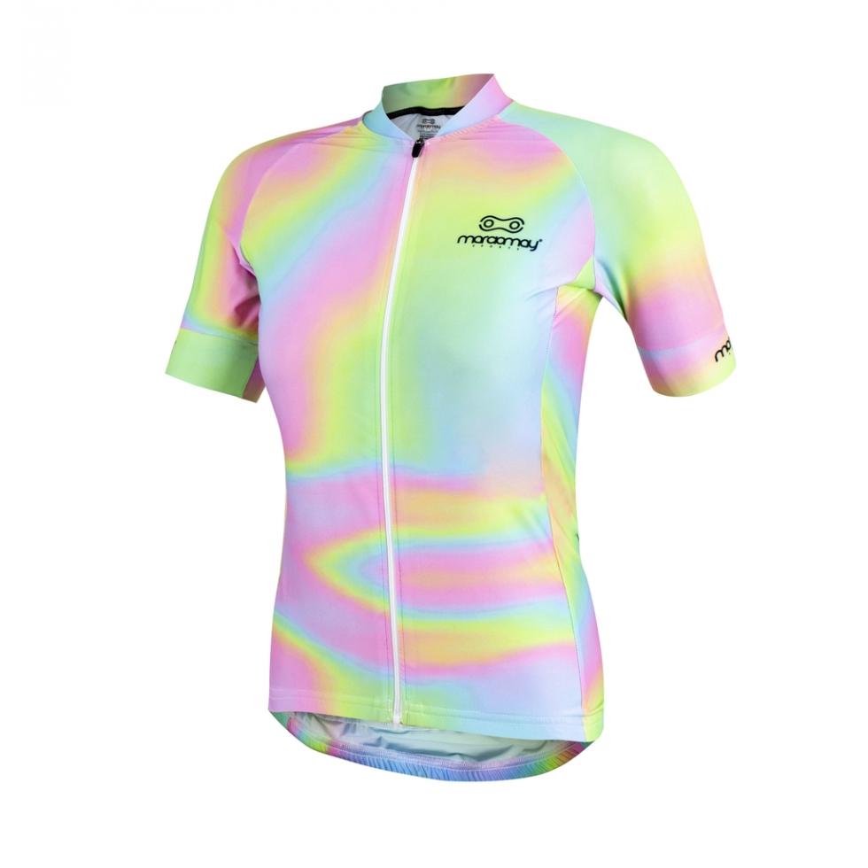 Camisa de Ciclismo Femenina Marcio May Pro Tie Dye