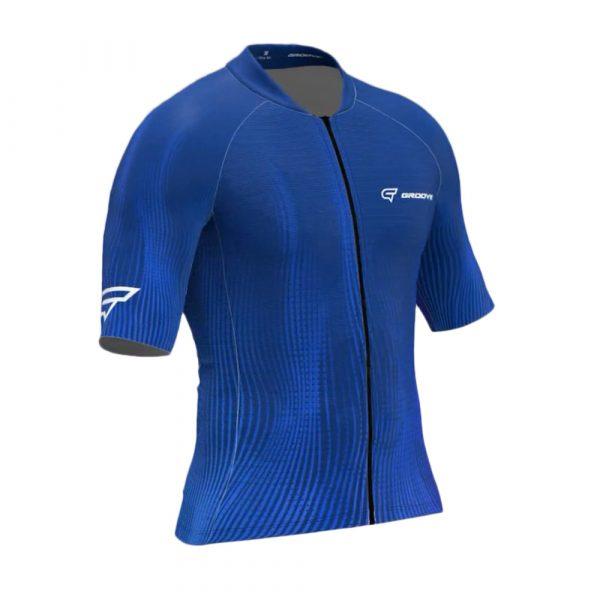 Camisa De Ciclismo Groove Masculina Azul