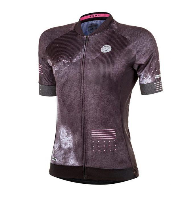 Camisa de Ciclismo Mauro Ribeiro Feminina Real Preto
