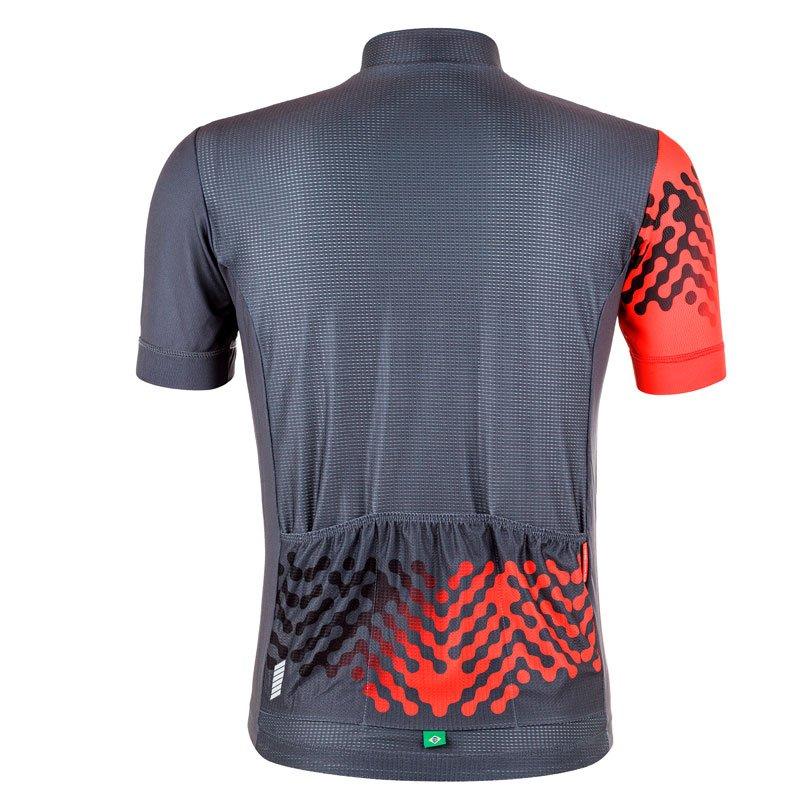 Camisa De Ciclismo Mauro Ribeiro Masc Even Comfort CZA/VMO