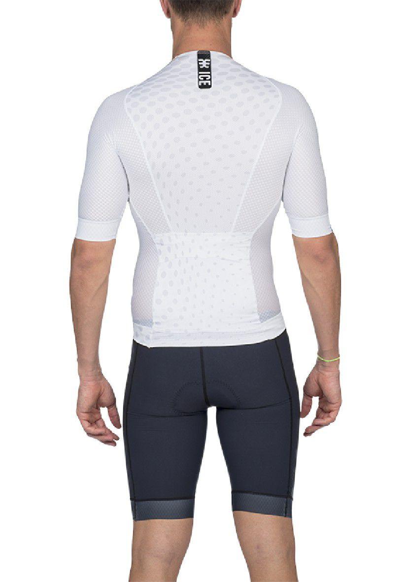 Camisa De Triathlon Woom Carbon Ice 2020 Masculino Com Manga