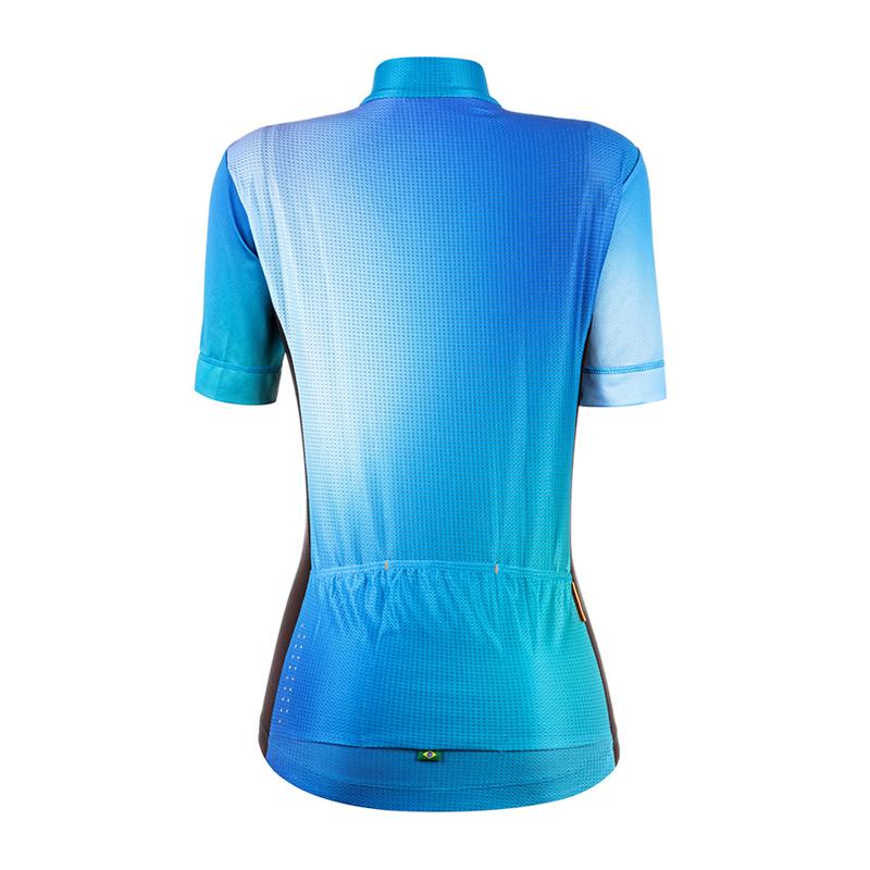 Camisa Mauro Ribeiro Feminina MC fresh Azul TAM GG