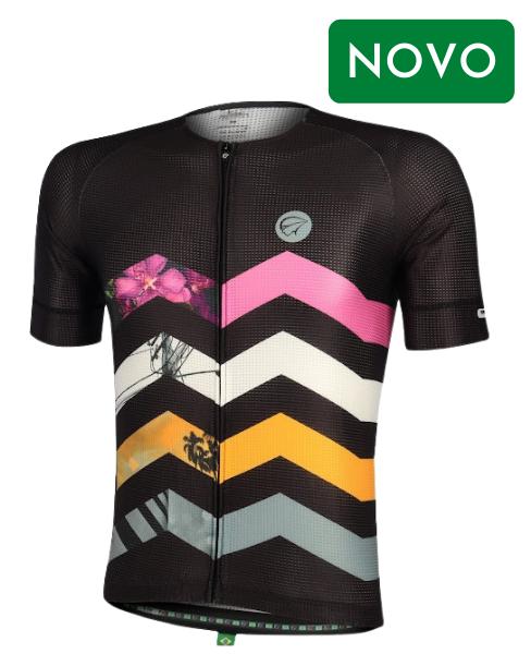 Camiseta Ciclismo Mauro Ribeiro Summit Preta Masculina