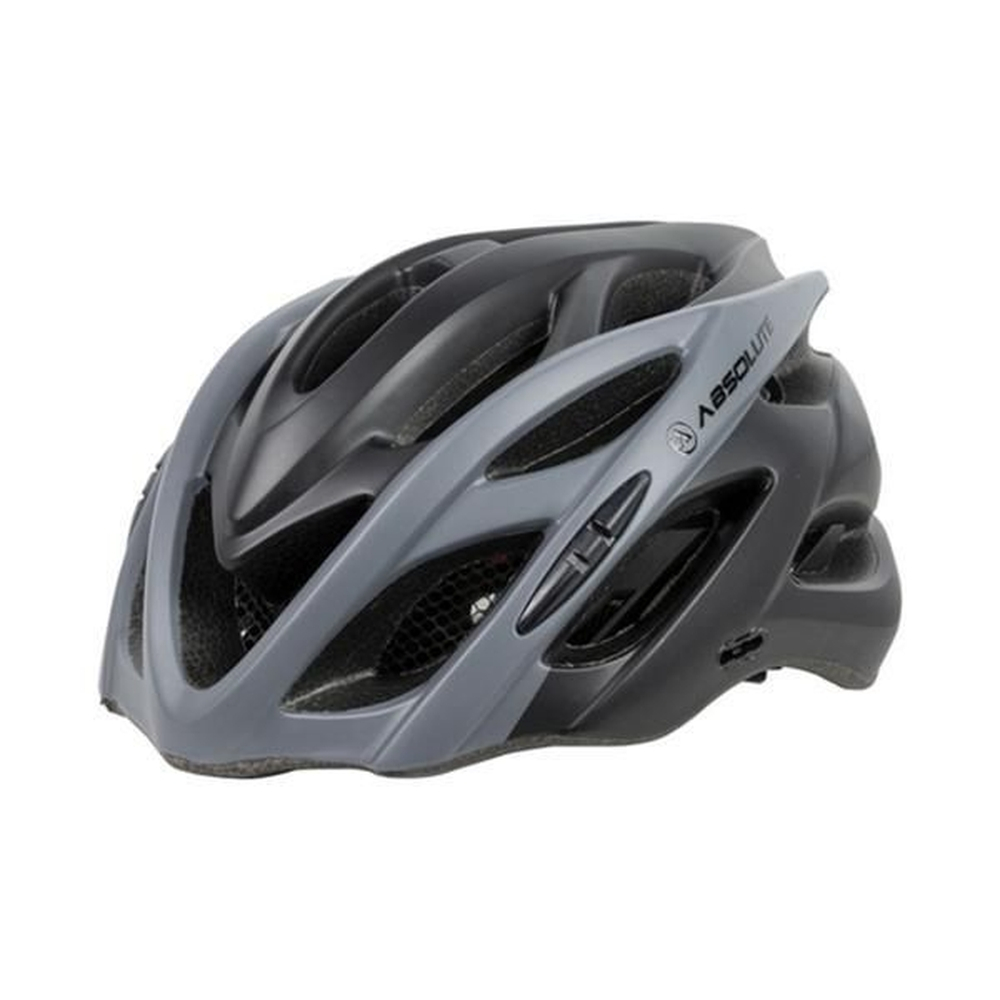 CAPACETE ABSOLUTE WILD PTO/CINZA, G
