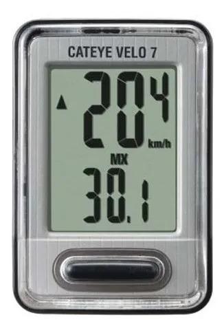 Ciclo Computador Velocímetro Cateye Velo 7 Cc-vl520 Com Fio