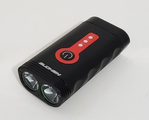FAROL ALUM 2 LEDS 900 LUMENS 3 FUNCOES USB PTO Ref: HOFRL0015 Marca: HIGH ONERef: HOFRL0015 ON