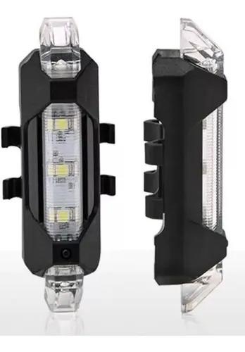 Farol Traseiro Lanterna Luz Leds Sinalizador Bicicleta Usb