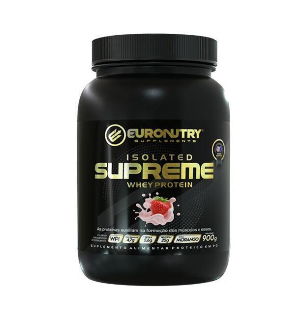 Isoled Supreme Wpi Puro Euronutry 900g Sabor Morango