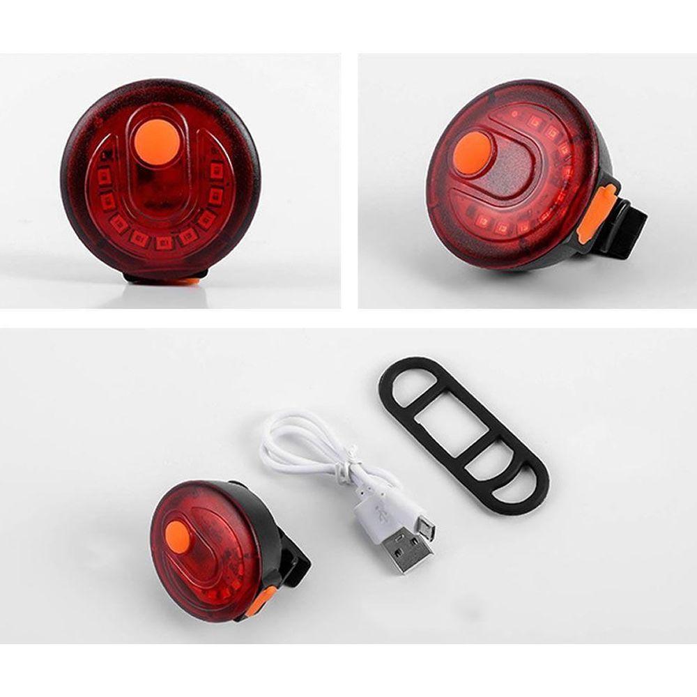 Lanterna Traseira Bainbow Recarregável USB Sinalizador