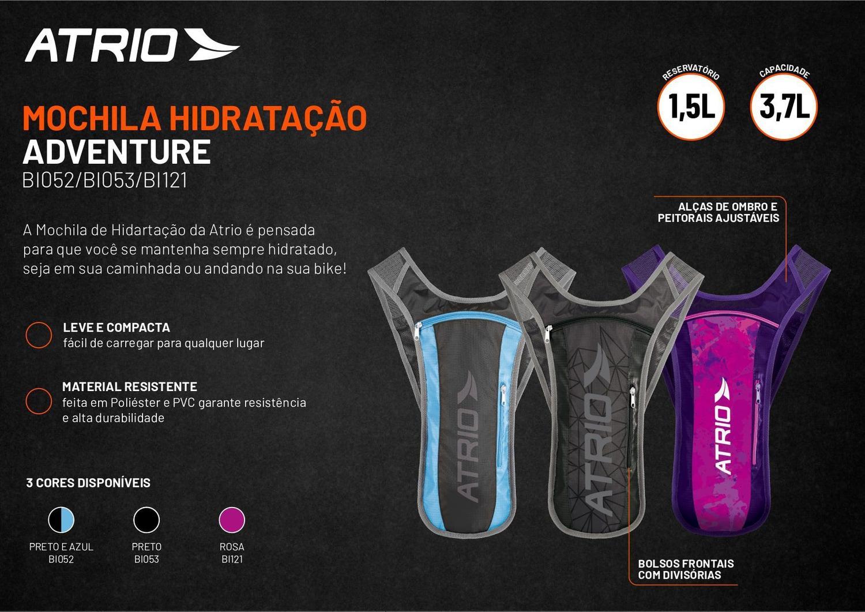Mochila De Hidratacao Sprint PRETO/AZUL 1,5L (TOTAL 3,7L)