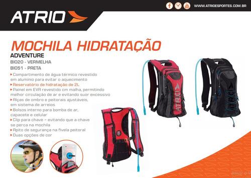 Mochila Hidratação - Adventure 2l Preta Atrio