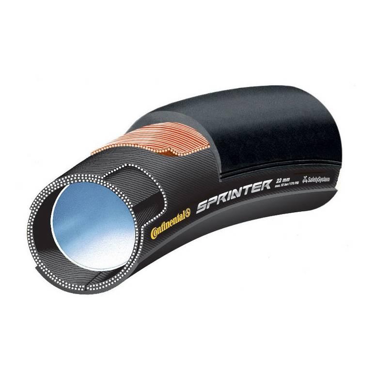 Pneu Tubular Continental Sprinter 28x25mm Preto